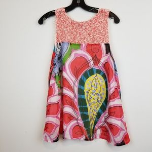 Desigual sleeveless top with crochet detail size M
